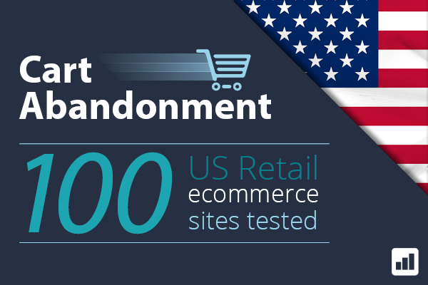 Cart Abandonment: 100 US Retail ecommerce sites tested